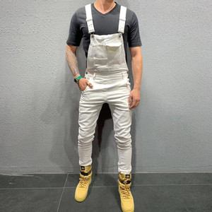 Brand New Men's Hoodies Canvas Loose Overalls Jumpsuits Slim Skinny Solid With Pocket Adjust Sleeveless Casual Fashion Hot 2019