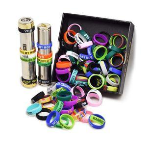 2020 i più nuovi 22 millimetri banda colorata anelli in silicone per Vape Band Vape silicone fai da te serbatoio Mod personalizzato
