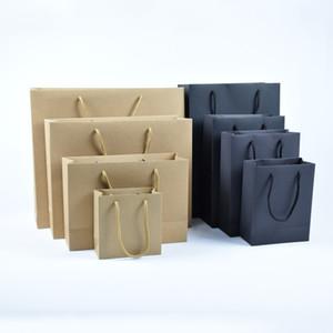 papier sac en papier épais formats personnalisés et sac cadeau des vêtements de couleur sac fourre-tout en papier kraft commercial
