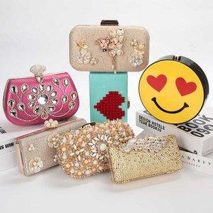 Кошелек LUXY Moon Gold Клатчи Леди мешок руки венчания Кристалл сцепления кошелек сумка женщин моды Daily
