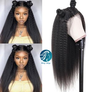 Kinky Straight 100 Human Hair Full Lace hd Transparent Lace Wigs Preplucked Hairline Remy Lace Front Wigs Braided Wigs For Black Women
