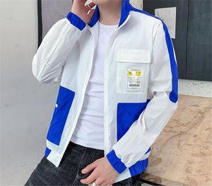 Été Lapel Neck crème solaire lambrissé vestes pour hommes manches longues mince Adolescent Vêtements Homme Hommes d'extérieur