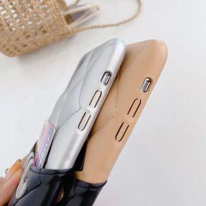 مصمم حالة الهاتف لفون برو 11 ماكس X XR XS MAX مع غطاء بطاقة جيب شبكة جلد الظهر