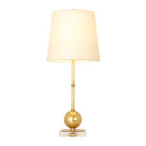 Nuova tabella decorative luci moderno tavolo di cristallo di rame lampade di lusso caldo illuminazione tavolo hotel villa soggiorno camera da letto ha condotto la luce scrivania