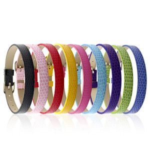 8MM змея браслет кожаные браслеты Fit Скользящие Подвески DIY Вспомогательное оборудование 10pcs / серия