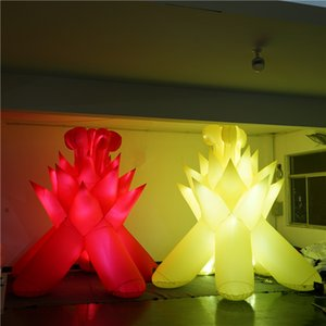 3m High Quality Giant Iinflatable Fire With LED Strip Light Customed Inflatables Tube Nightclubs Decoration