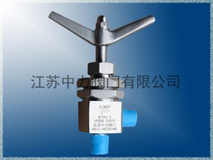 Stainless steel angle needle valve