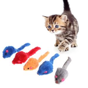 Jouets pour chat False Mouse Peluche Doux Coloré Chaton Animaux Drôles Squeaky Playing Livraison au hasard