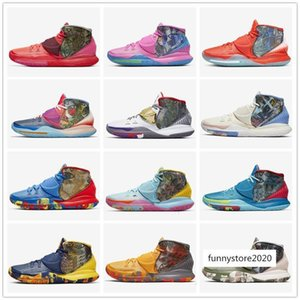 2020 Pre-Heat NYC Miami Houston Mens Basketball Shoes Kyrie 6 Tokyo Heal The World Designer Sneakers CN9839-100-404-401