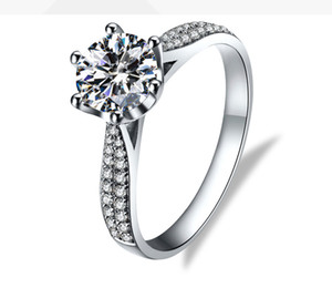 Factory Direct Sale Moissanite Diamond Ring 18K White Real Gold Rings Designer Jewelry Female Ring Engagement Ring Wholesale Certificate