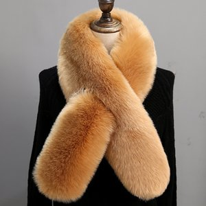 Women Faux Fur Collar Scarves Winter Artificial Fur Cape Poncho Fashion Lady Elegant Warm Scarfs Neck Warmer TTA1511