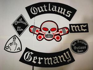 Alemania proscritos Parches Hierro bordado en parches para el motorista de la motocicleta de la chaqueta del chaleco del parche viejo Hells Forajidos MC Patch Divisas Stocker