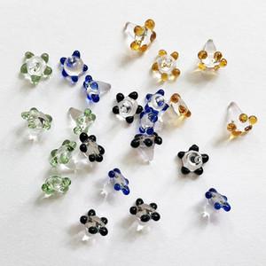 Telas coloridas policromático de vidro para vidro Mão Cachimbo Bacia da flor da margarida Quartz Banger Buraco Bongs Dustproof Unhas Acessórios fumadores