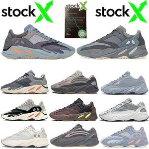 2020 nuovi pattini di Kanye West 700 Carbon TEAL blu riflettente Runing per gli uomini donne corridore dell'onda inerzia Tephra Magnet Vanta Analog Static Sneaker