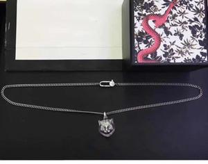60 cm collane in argento nuovi prodotti 925 collana in argento sterling testa tigre testa hip hop collana personalità collana lunga collana moda gioielli moda