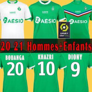 20 21 майка Soccer jersey AS Saint-Étienne ASSE Футбол Джерси 2020 2021 BOUANGA AS ETIENNE KHAZRI DIONY YOUSSOUF BOUDEBOUZ HAMOUMA Мужские детские комплекты Футболки экипировка