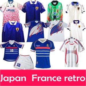 retro france japan soccer jersey 1998 2006 1994 jerseys home away fooyball shirts men Tailândia top quality