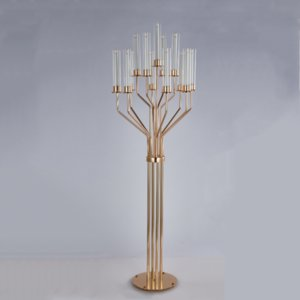 Acrylic Candelabras 160 CM Height 13-Arms Candle Holders Luxury Wedding Table Centerpiece Candlesticks Home Decoraion