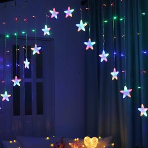 BRELONG 8 패턴 LED 스타 조명 문자열 실내 커튼 문자열 조명 야외 방수 휴일 조명 따뜻한 화이트 / 여러 가지 빛깔의