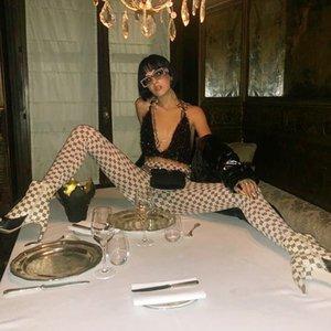 Elastic Leggings Misbhv 2021 Fashion Letter Trousers Legging Sexy Long Summer Pants Hip Polyester Print Hop Ruched Gothic Women Kkhsx