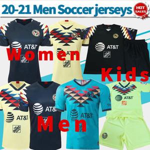 2020 Клуб де Futbol Америка домой футбол трикотажные изделия 19 20 Мужчины Дети Женщины прочь черные Третьи зеленые рубашки футбола Customized футбол равномерное