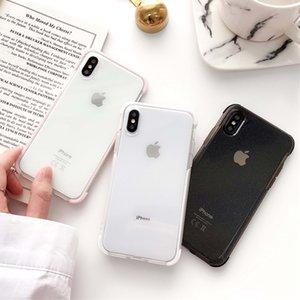 Caja de lujo del teléfono del polvo del brillo para el iPhone X XR XS Max 8 7 Plus 6 6S Plus Transparente Suave TPU a prueba de golpes Brillante Volver
