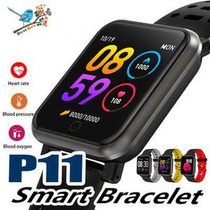 P11 1.3inch Smart Band Bluetooth Smart Watch IP68 Impermeable Frecuencia cardíaca Presión arterial Podómetro Fitness Tracker Pulsera