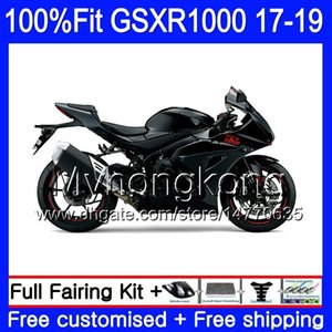 Injeção para Suzuki GSXR1000 GSXR1000 K17 GSXR 1000 17 18 19 331HM.19 GSX R1000 L7 L8 GSXR1000 2017 2018 2019 Boas carenagens pretas lustrosas