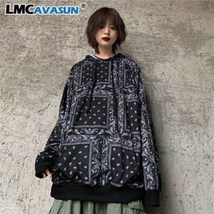 Hip Hop Paisley Bandana Top Pullover Hoodies Man Women Harajuku Sweatshirt Streetwear Loose Oversized Vintage Thin Korean Autumn