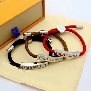 3 Farben Armbänder Frauen mens rot schwarz Charm Bracelets Hochwertige Art und Weise 2020 neue Handketten Charm Bracelets 2020
