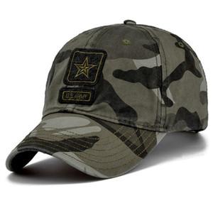 Новых поступления Big Sales Men Pentagram Cap Лучших качества армия США Caps Мужской Рыбалки Hat Camo бейсболки Bone Регулируемая Бесплатная доставка