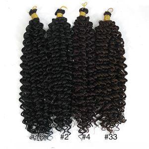 A Braiding Hair Extensions Water Wave Braids Blonde Bundles Freetress Afro Synthetic Kinky Twist Crochet Hair Bulk