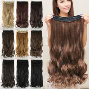 24 pollici Multi-colore opzionale ad alta temperatura seta Curling Clip Clip di capelli sintetici Curtain jooyoo estensioni dei capelli