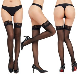 Womens Designer Sexy Lace Transparent Stockings Womens Brand Over Knee Stockings Fashion Perspective Sock 2020 New Style Wholesale