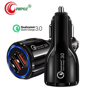 Top Quality QC 3.0 Fast Car Charger 12V 3.1A Qualcomm Quick Charge Travel Charger Dual USB Fast Charging Phone Charger With OPP bag