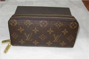 7G23 Livraison gratuite !!! PU style classique pour hommes en cuir et womens double fermeture éclair portefeuilles cartes porte-monnaie Porte-A1