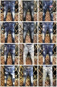 Pantaloni di alta qualità di design D2 uomini denim jeans pantaloni ricamo moda fori pantaloni Italia taglia 44-54