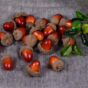 20PCS 3CM همية رغوة الصنوبر المخاريط البسيطة الاصطناعي رغوة الفاكهة والخضروات التوت زهور الزفاف شجرة عيد الميلاد الديكور
