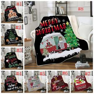 Buon Natale Coperta rettangolo peluche Gettare coperte in pile Cappotti Bambini Bedding Sheet Sofa Cover ispessimento Mantello copriletto GGA2590