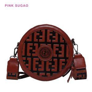 Розовый Sugao дизайнер мешки плеча женщин маленькие кошельки BRW Кроссбодите сумку новые стили круговой Пу кожа с буквами моды плеча сумки