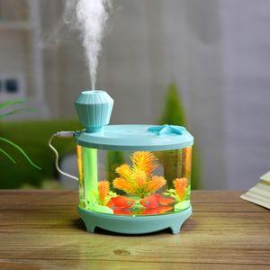السمك 460ml خزان USB رائحة LED الناشر المرطب 7 ألوان الضوء والموجات فوق الصوتية ضروري الناشر رذاذ الزيت للسيارة المنزل