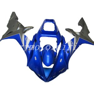 4 Gifts New Style ABS stampo motociclistico plastica Carene Kit Fit For YAMAHA YZF-R1-1000 2002-2003 02 03 carene set grigio blu