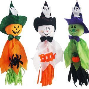 Halloween Doll Pendentif Fantôme Horreur Hanging Ornements citrouille fantôme Poupée maison hantée Props Halloween Party Décoration Prop BH2274 CY