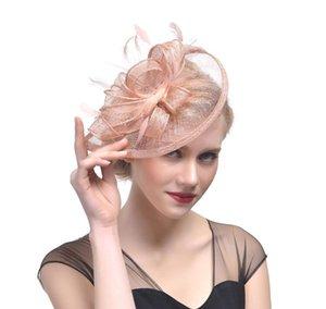 New Fascinator Acessórios Para o Cabelo Elegante Moda Headwear Fantasia Penas de Cabelo Grampos de Cabelo Grampos de Cabelo Cocktail Party forgirls GB624