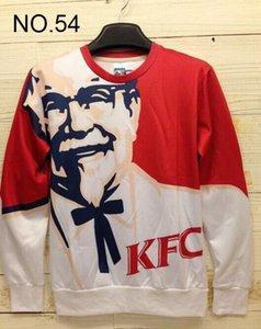 2014 new Winter print Pullovers mens hoodies Sweaters loves Stereo 3D Sweatshirt women's Sweatshirts men's T Shirt 100 design KFC