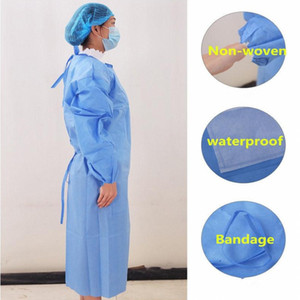 In Stock Protection Gown Disposable Protective Isolation Clothing Dustproof Coverall For Women Men Waterproof Anti-fog Anti-particle Suit
