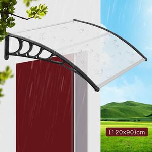 120x90cm bricolaje Sun Refugio anti UV Parasol Ultraligero mirador al aire libre Muebles Puerta ventana Toldo plástico de lluvia Refugio Lona Carpa