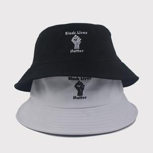 Moda Masculina e Feminina Geral Bordado Fisherman Hat Outdoor Leisure Chapéu de Sol 6 estilos Bacia de viagem Hat I CAN'TBREATHE T3I5825-1