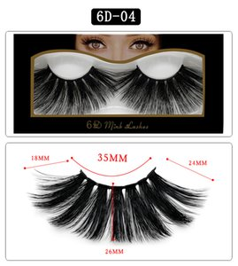 6D mink lashes thick natural long mink fur hair false eyelashes makeup soft & vivid fake lashes DHL Free
