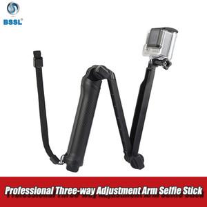 Pieghevole a 3 vie Grip impermeabile monopiede Handheld selfie Stick Per SJ4000 Xiaomi Yi 4K espandibile mini macchina fotografica di sport treppiede Accessori